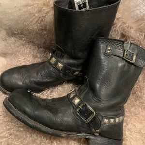 Frye Studded Harness Boots